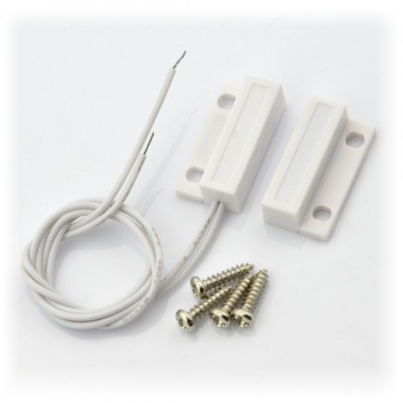 Czujnik magnetyczny otwarcia drzwi/okien - kontaktron CMD14 + śrubki