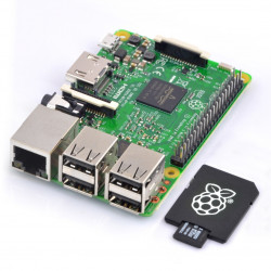 Raspberry Pi 3 model B WiFi Bluetooth 1GB RAM 1,2GHz z kartą pamięci + system