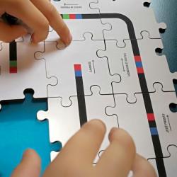 Ozobot - drewniane puzzle