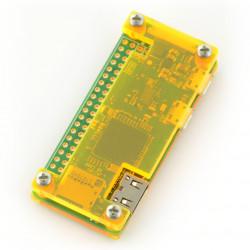Obudowa Raspberry Pi Zero - Fluo Open - żółta