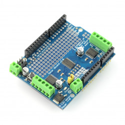 L293D driver DC motors, stepper motors and servos - 12V/1,2 A - panel for Arduino