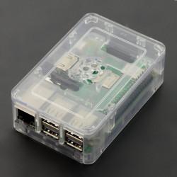 Obudowa Raspberry Pi Model 3B/2B RS Pro - przezroczysta z klapką