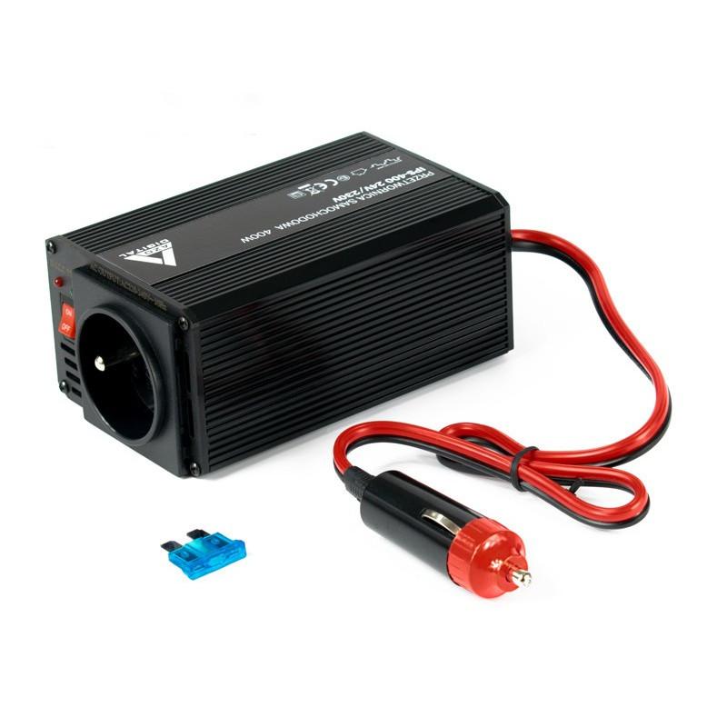 Przetwornica DC/AC step-up AZO Digital 24VDC / 230VAC IPS-400 400W - samochodowa