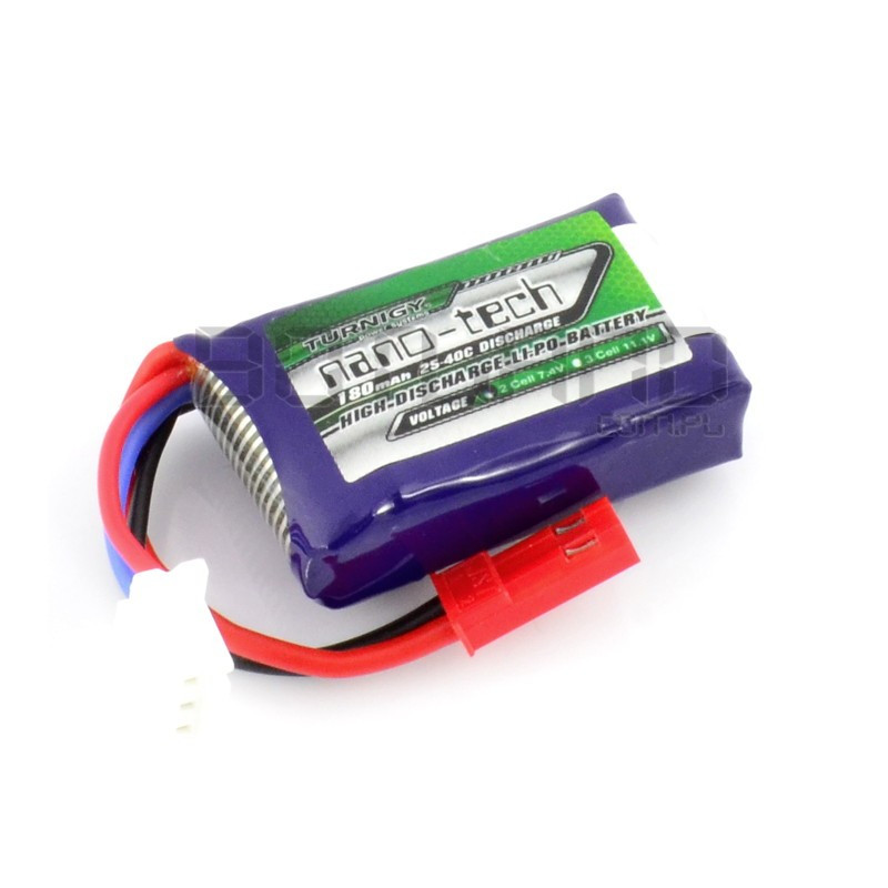 Turnigy nano-tech Li-Pol battery pack 180mAh 25C 2S 7.4V