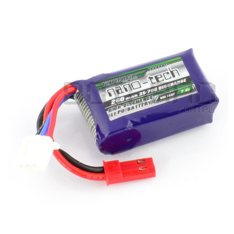 Pakiet Li-Pol Turnigy nano-tech 260mAh 35C 2S 7.4V