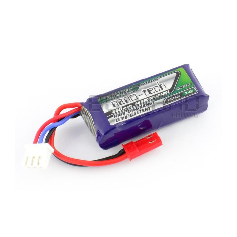Pakiet Li-Pol Turnigy nano-tech 300mAh 45C 2S 7.4V