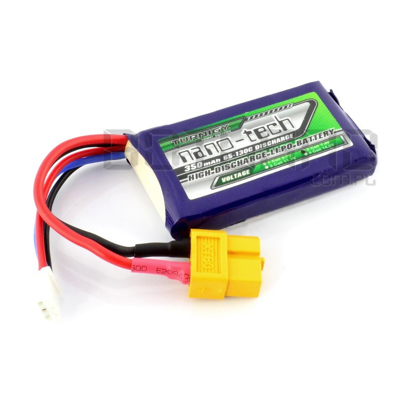 Turnigy nano-tech Li-Pol battery pack 350mAh 65C 2S 7.4V