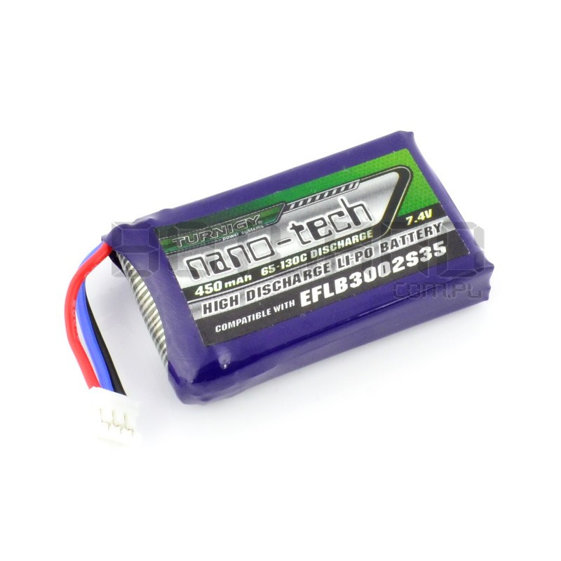 Pakiet Li-Pol Turnigy nano-tech 450mAh 65C 2S 7.4V