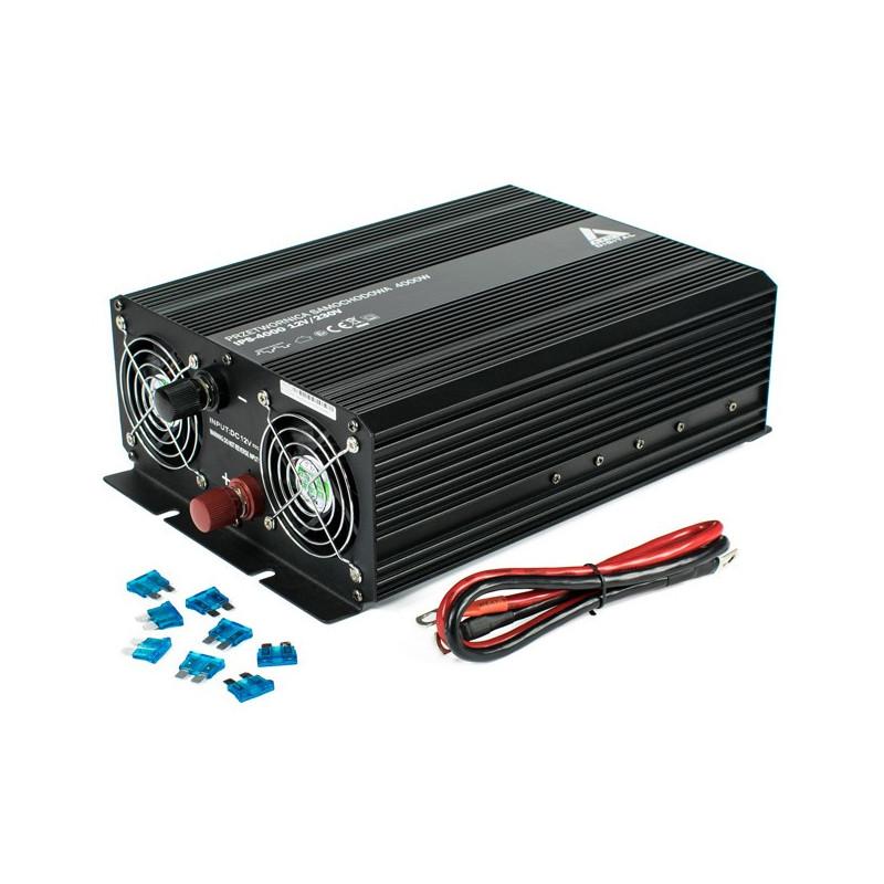 Przetwornica DC/AC step-up AZO Digital 12VDC / 230VAC IPS-4000 4000W - samochodowa