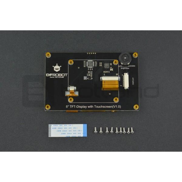 Ekran dotykowy DFRobot - pojemnościowy 5'' 800x480px DSI do Raspberry Pi  3B+/3B/2B