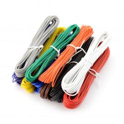 Zestaw przewodów drucianych PVC - 10 kolorów - 60m