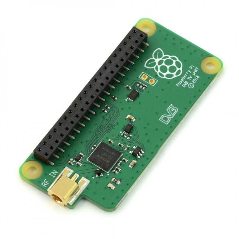 TV HAT tuner DVB-T - module with decoder for Raspberry Pi 4B/3B+/3B/Zero*