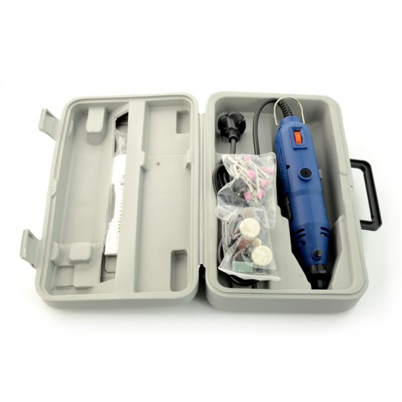 Miniwiertarka precyzyjna Veleman VTHD04 - zestaw do grawerowania - 40 elementów