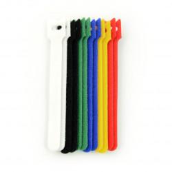 Organizer kabli - rzep 12mm x 15cm - różne kolory - 12 szt.