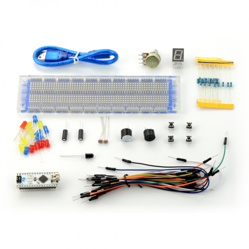 LED Electronic Components Set Relay Potentiometer Resistor Cable DIY For Arduino