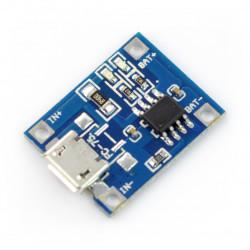 Lipol charger TP4056 1S 3,7V microUSB