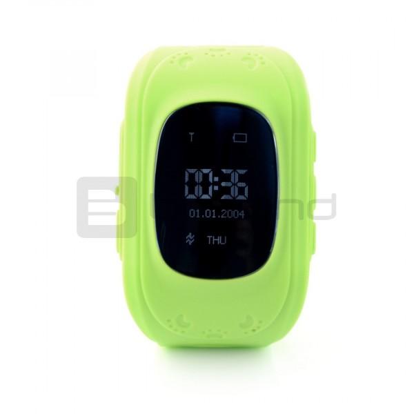 Zegarek Smart Watch dla dzieci z lokalizatorem GPS ART LOK-1000G - zielony