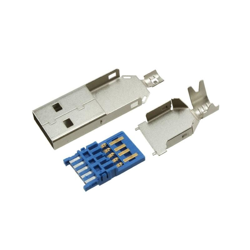 Wtyk USB 3.0 typ A - na przewód