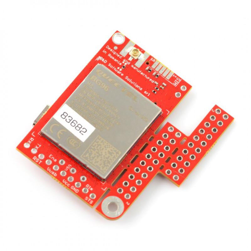 Module GSM LTE NB IoT EGPRS GNSS - u-GSM shield v2 19 BG96 - for Arduino  and Raspberry Pi - u FL connector*