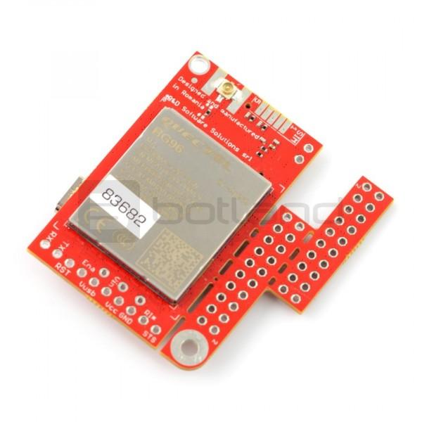 Moduł GSM LTE NB IoT EGPRS GNSS - u-GSM shield v2 19 BG96 - do Arduino i  Raspberry Pi - złącze u FL