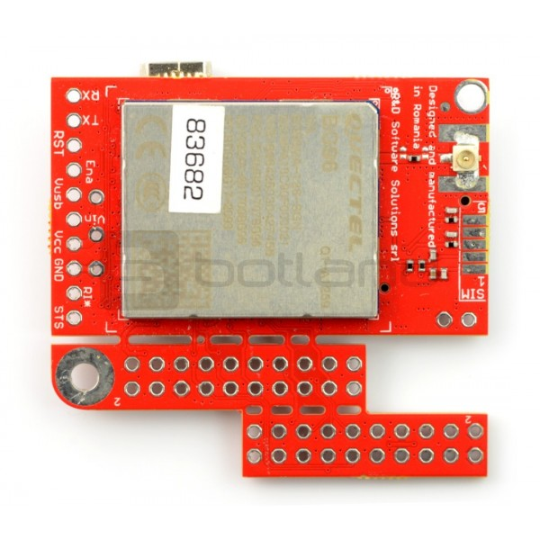 Module GSM LTE NB IoT EGPRS GNSS - u-GSM shield v2 19 BG96 - for Arduino  and Raspberry Pi - u FL connector*