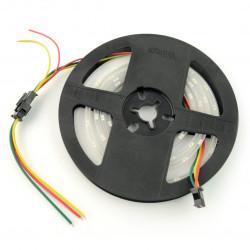 Pasek LED RGBW SJ-10060-4020 - cyfrowy, adresowany - IP65 60 LED/m, 18W/m, 5V - 1m