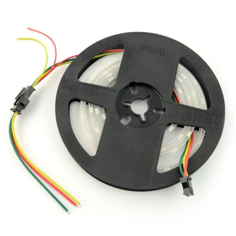 Pasek LED RGB SJ-10060-4020 - cyfrowy, adresowany - IP65 60 LED/m, 18W/m, 5V - 1m