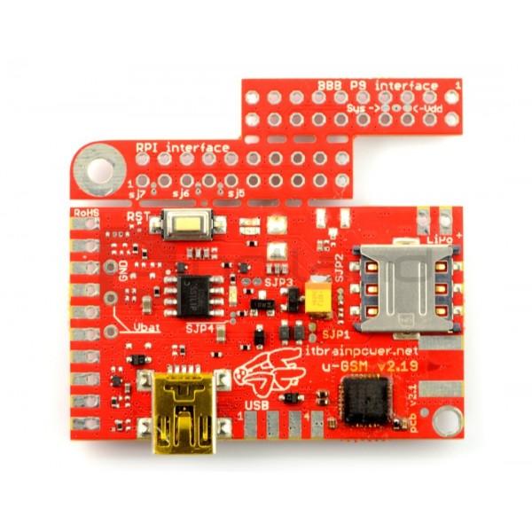 Moduł GSM LTE NB IoT- u-GSM shield v2 19 BC95G - do Arduino i Raspberry Pi  - złącze u FL