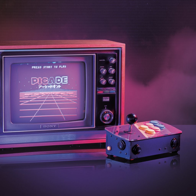 Picade Console - retro konsola - nakładka + akcesoria dla Raspberry Pi 3B+/3B/2B/Zero
