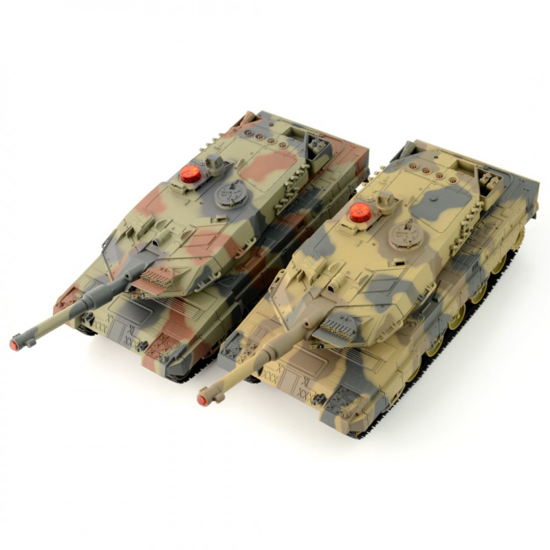 Set of RC tanks 2x Leopard 1:24 RTR - 27/40MHz_