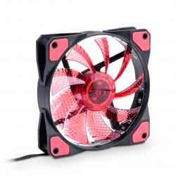 Wentylator 12V 120x120x25mm Molex - czerwony