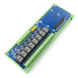 Nakładka HAT dla RPI z modułem przekaźników 8 kanałów z optoizolacją - styki 5A/250VAC/30VDC - cewka 5V