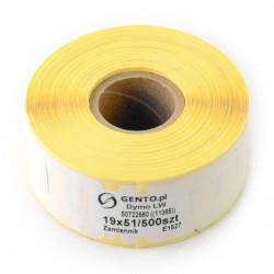 Etykiety do drukarki Dymo 19x51mm - 500 szt/rolka - zamiennik