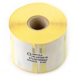 Etykiety do drukarki Dymo 57x32mm - 1000 szt/rolka - zamiennik
