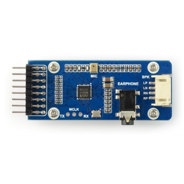 Waveshare WM8960 - odtwarzacz audio I2S I2C