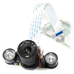 Kamera Waveshare Camera HD IR-CUT OV5647 5Mpx (B) - dzień/noc IR dla Raspberry Pi + moduły IR