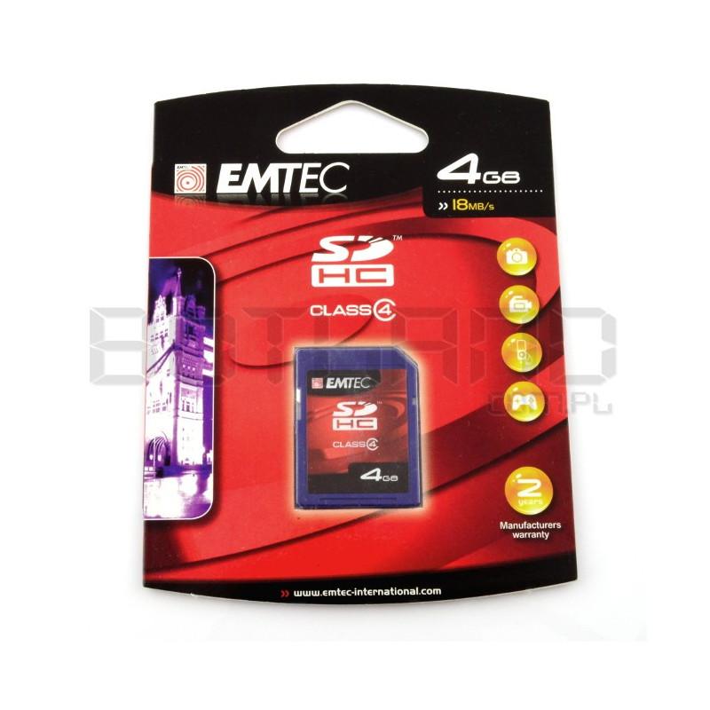 Emtec SD / SDHC 4GB class 4 memory card