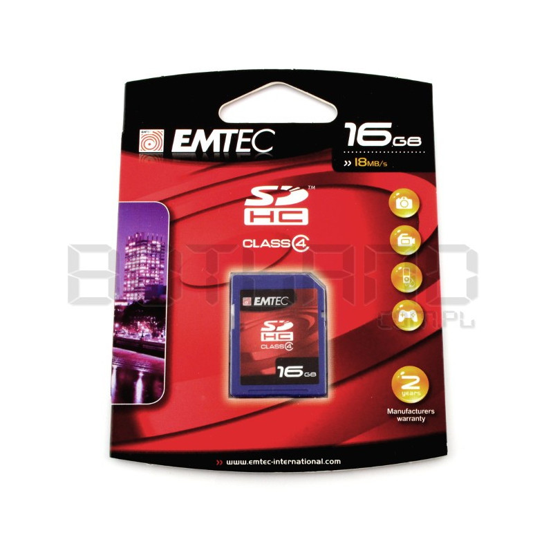 Karta pamięci Emtec SD / SDHC 16GB klasa 4