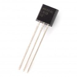 Temperature sensor LM35DZ NS to - analog TNT