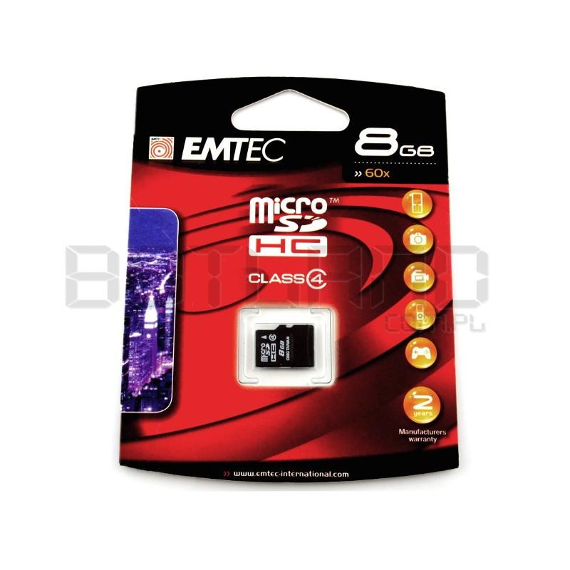EMTEC micro SD / SDHC 8GB class 4 memory card