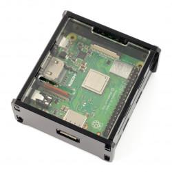 Obudowa Raspberry Pi 3 Model A+ czarno-przeźroczysta pełna