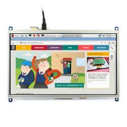 Ekran dotykowy rezystancyjny LCD TFT 10,1'' 1024x600px dla Raspberry Pi 3/2/B+