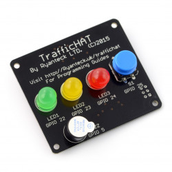 Traffic HAT - shield with diodes for Raspberry Pi