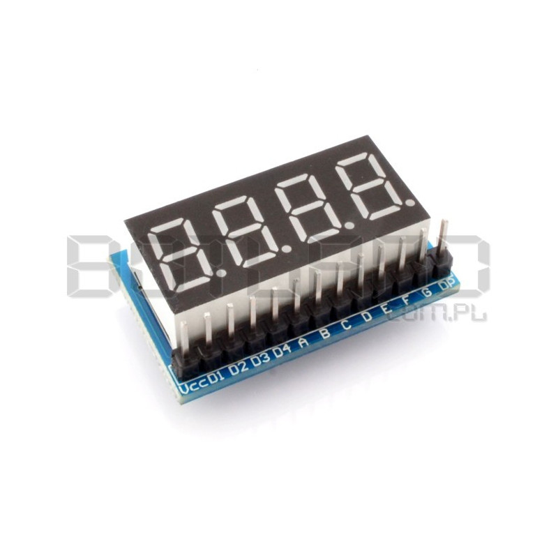 Module 4 x 8-segment display common anode