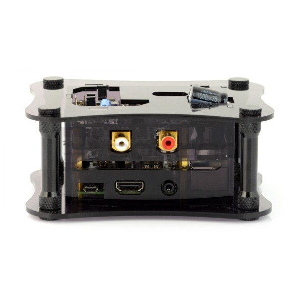 Case for Raspberry Pi 3B+/3B/2B and Allo Katana DAC - black_