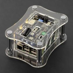 Obudowa Raspberry Pi 3B+/3B/2B i do Katana DAC - przezroczysta