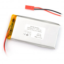 Akyga Li-Pol battery 1500mAh 1S 3.7V - JST-BEC connector + socket