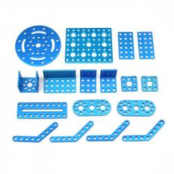 MakeBlock 95045 - pakiet uchwytów i kątowników - niebieski