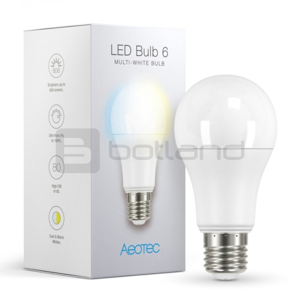 Aeotec Led Bulb 6 Multi White żar 243 Wka Led E27 Sklep