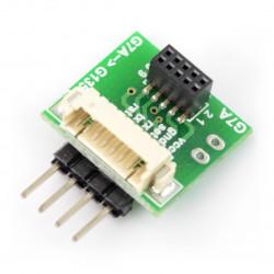 Adapter IDC 10pin 1,27mm - JST 1,25mm + złącza v2 dla czujnika PMS7003